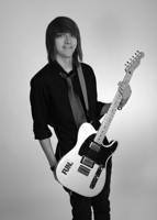 12th Grade - Justin Senior Picture - Guitar - BW